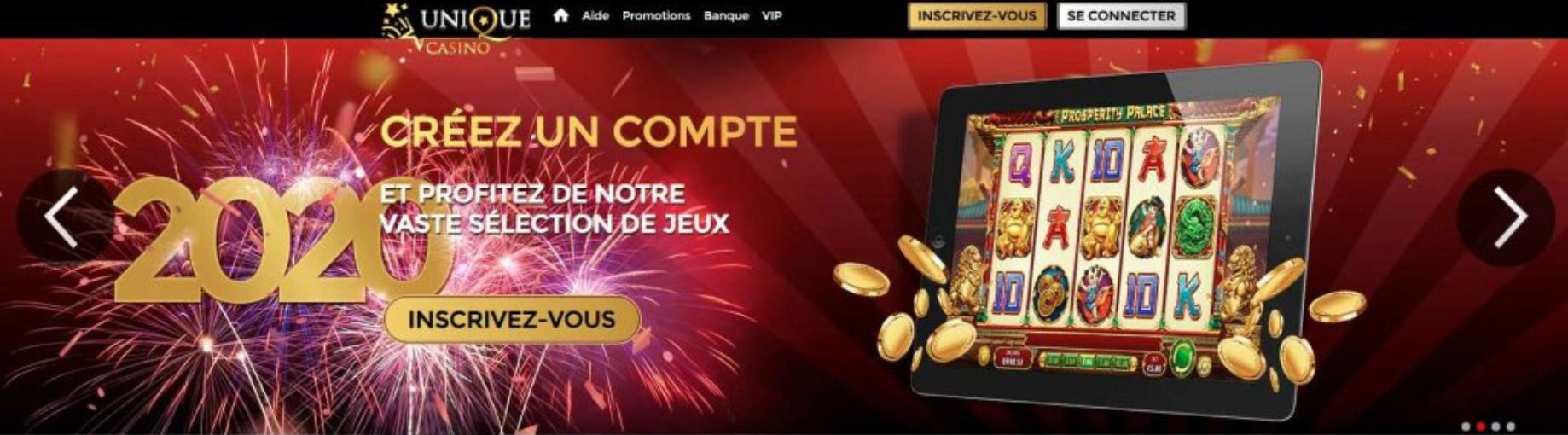 unique casino offres